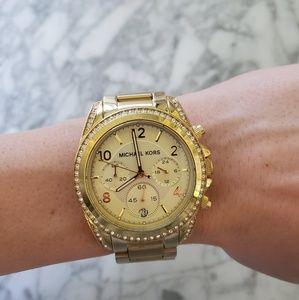 Gold Michael Kors diamond watch